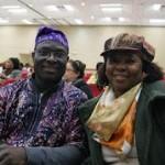 Prof. Gideon ao lado de Edna Beato, da Pastoral Afro de Campinas